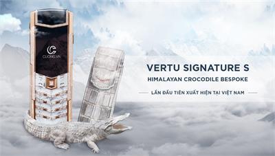 """HOT: Siêu phẩm """"Vertu Signature S da cá sấu bạch tạng"""" xuất hiện lần đầu tiên tại Việt Nam"""