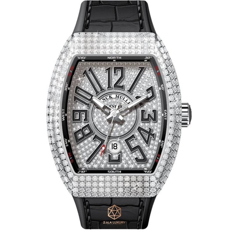 FRANCK MULLER V32 VANGUARD STEEL FULL DIAMONDS