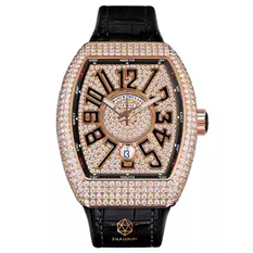 FRANCK MULLER V41 ROSE GOLD FULL DIAMONDS
