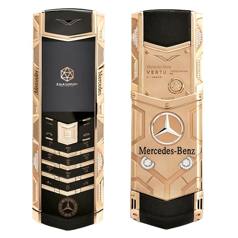 Vertu Signature S Mercedes Rose Gold Diamonds